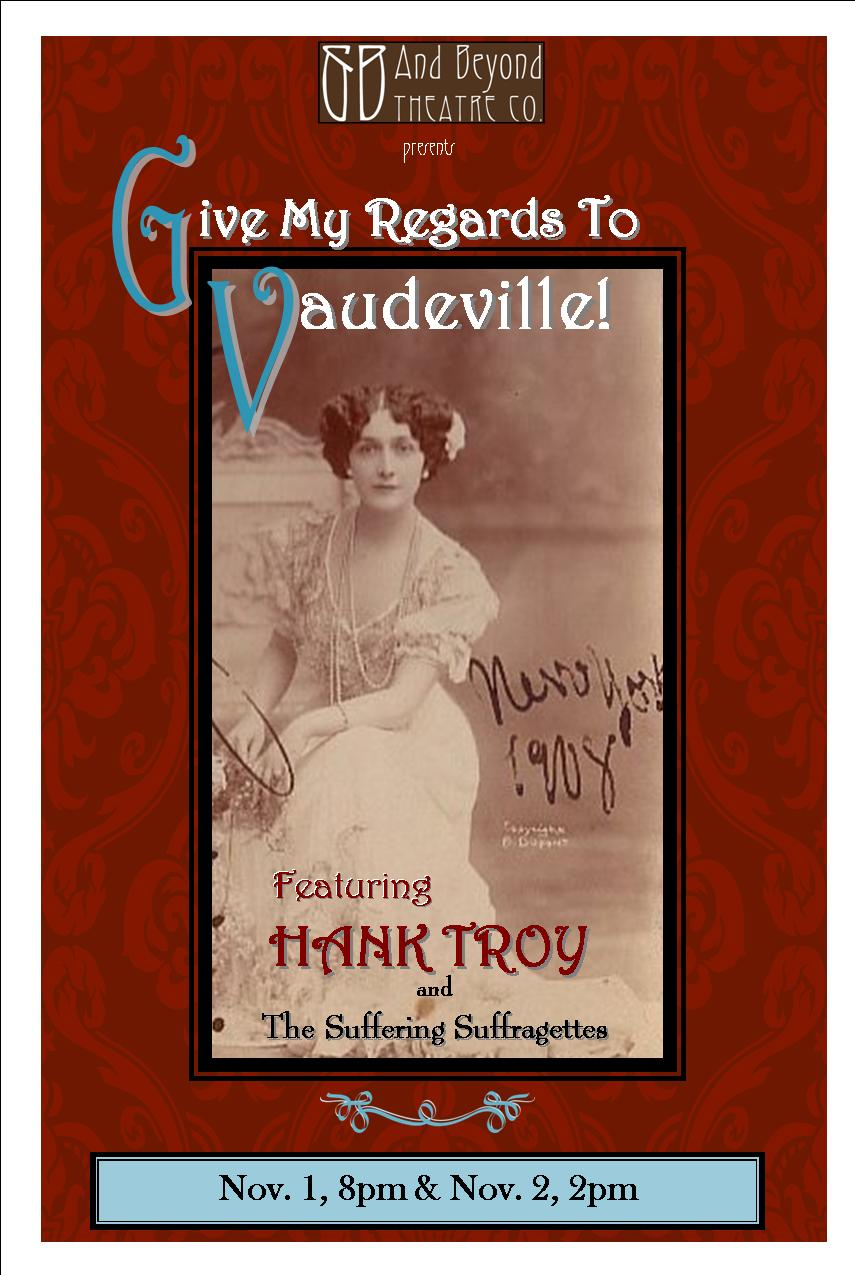 Vaudeville flyer for kid's pages